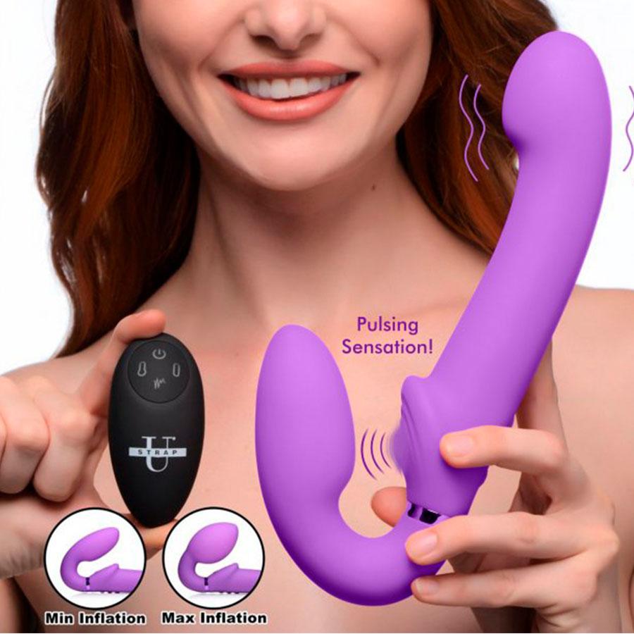 Strapless Vibrante, Inflable & Pulsante - Strap U - XR Play Hard - Prueba una nueva experiencia en nuestro Sex Shop