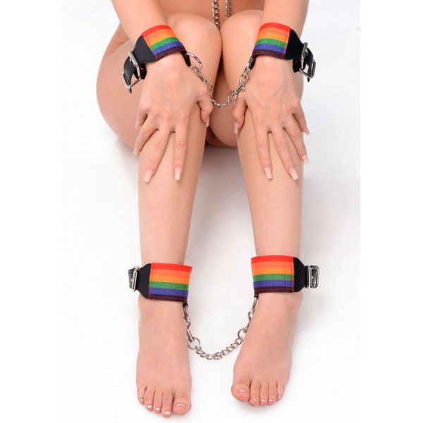 Kinky Pride Rainbow Bondage Set - Master series - XR Play Hard - Prueba una nueva experiencia en nuestro Sex Shop