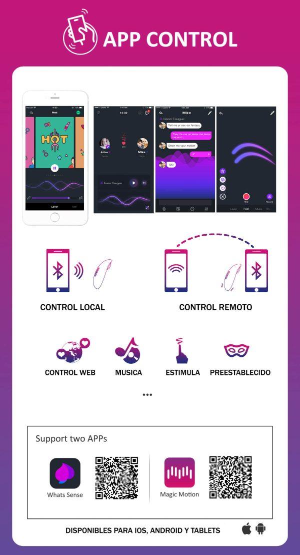 Magic Candy - Vibrador Externo - Con App Gratis - MagicMotion - Juguetes y productos para todos los bolsillos. Envíos rápidos y discretos a todo Chile