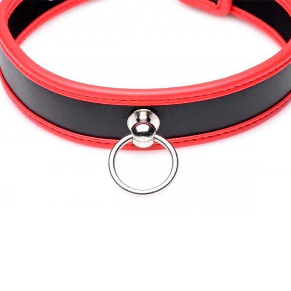 Collar Rojo Roleplay Puppy -bdsm -sweetshopchile - SexShop con productos de calidad